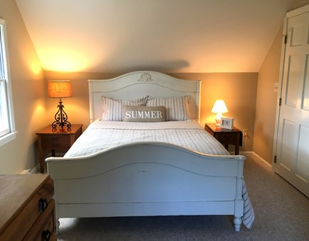 Eastham Cape Cod vacation rental - Inviting and soothing queen bedroom with attached 1/2 bath.