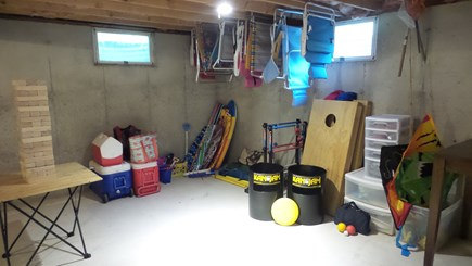 Eastham Cape Cod vacation rental - The basement is loaded with games and beach essentials!