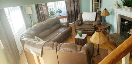 Dennisport Cape Cod vacation rental - Large Family Room, Fireplace, TV/Cable/WiFi,
