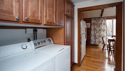Falmouth Heights Cape Cod vacation rental - Laundry conveniently located off of the kitchen