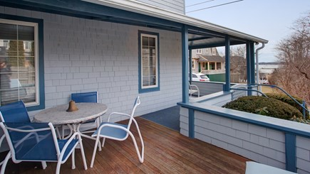 Falmouth Heights Cape Cod vacation rental - Wrap around deck w/peeks of the water