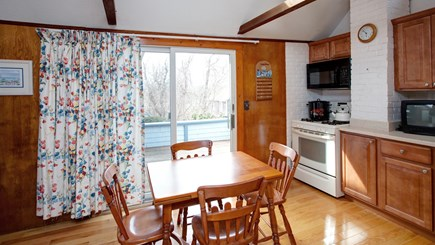 Falmouth Heights Cape Cod vacation rental - Kitchen with slider to deck