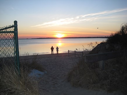 West Yarmouth Cape Cod vacation rental - Sunset over the bay beach