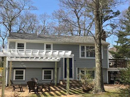 EASTHAM Cape Cod vacation rental - Front of Sandy Point with new pergola and fresh paint job.
