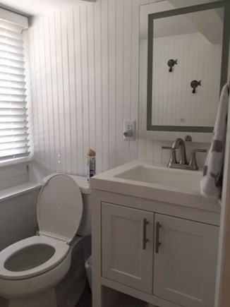 EASTHAM Cape Cod vacation rental - New 1/2 bath in the lower level. Outdoor shower for showering.