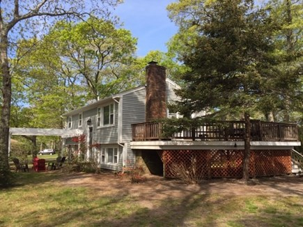 EASTHAM Cape Cod vacation rental - Outdoor view showing large mahogany deck.