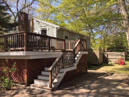 EASTHAM Cape Cod vacation rental - Deck and outdoor shower in the back- a must have for Cape Cod!
