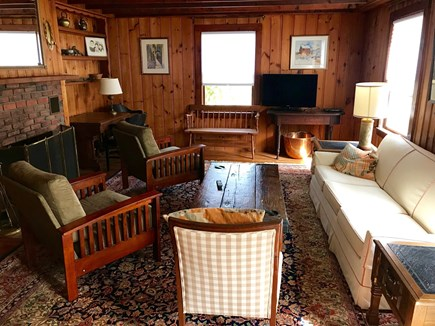 Brewster Cape Cod vacation rental - Living room with flat screen TV.