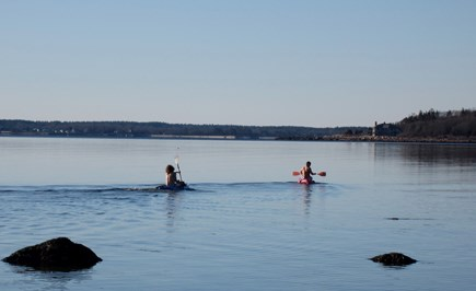 Wareham, Cod Canal and Little Harbor Ba MA vacation rental - kayaking towards Little Harbor