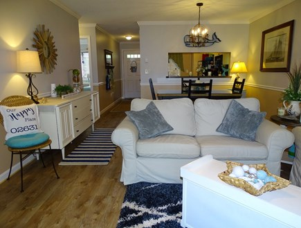 Brewster, Ocean Edge Resort  Cape Cod vacation rental - Comfortable TV area, opens to dining and kitchen