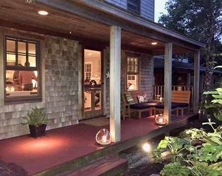 Provincetown Cape Cod vacation rental - Ambiance lighting for relaxing evenings on the porch