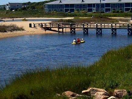 West Yarmouth Cape Cod vacation rental - Another view of the bridge across the lagoon.