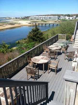 West Yarmouth Cape Cod vacation rental - Common deck with gas grill overlooking lagoon.