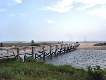West Yarmouth Cape Cod vacation rental - The boardwalk to the beautiful, warm water beach.