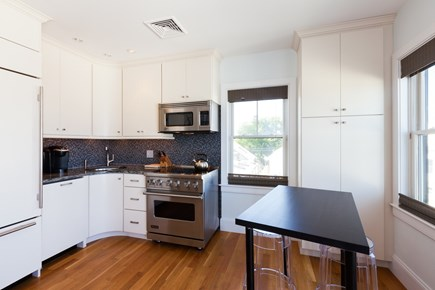 Provincetown Cape Cod vacation rental - Fully equipped kitchen and dining/work space area