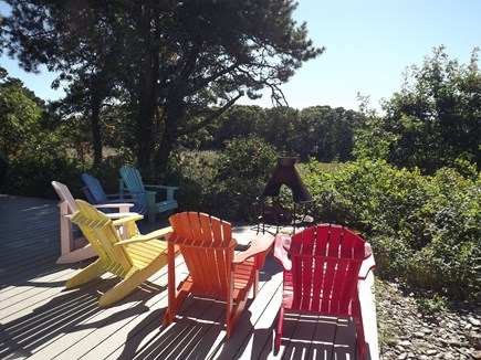 Chatham Cape Cod vacation rental - Fire Pit with View of Marsh
