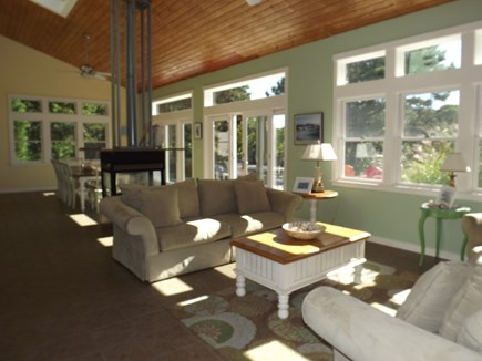 Chatham Cape Cod vacation rental - Great Room with Views of Deck & Marsh