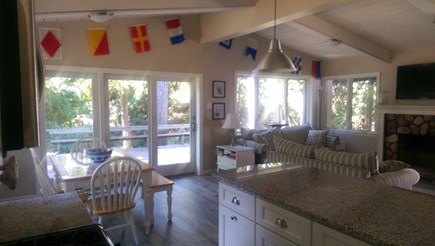 Falmouth Cape Cod vacation rental - Living room/Dining room from the kitchen