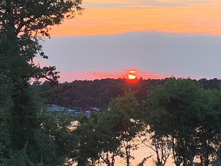 South Dennis Cape Cod vacation rental - Deck sunsets