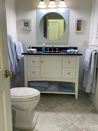 South Dennis Cape Cod vacation rental - Newly renovated guest bathroom