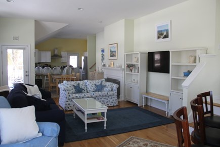 South Dennis Cape Cod vacation rental - Living room/dining area