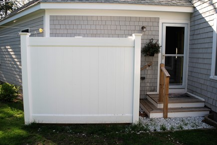 West Dennis Cape Cod vacation rental - Outside shower with changing area