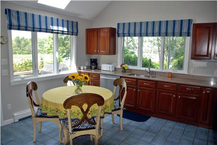 West Dennis Cape Cod vacation rental - Kitchen with water views