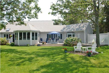 West Dennis Cape Cod vacation rental - Perfect relaxation opportunity on the spacious back deck and yard