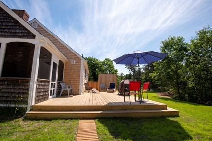 Eastham Cape Cod vacation rental - Spacious new deck with huge outdoor shower & private yard