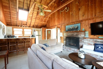 Eastham Cape Cod vacation rental - Spacious and open living space that opens to screened porch