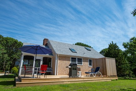 Eastham Cape Cod vacation rental - Backyard with new deck and outdoor shower