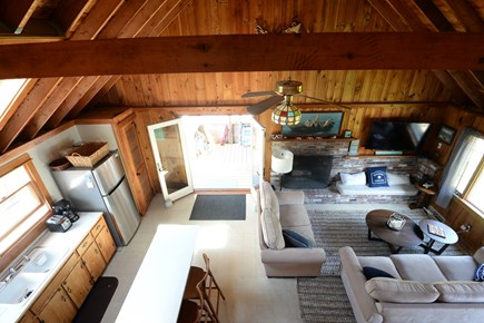 Eastham Cape Cod vacation rental - Living and Kitchen area from above