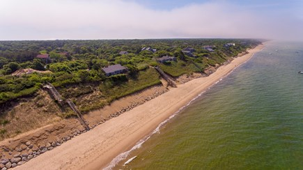 Eastham Cape Cod vacation rental - Private beach from above
