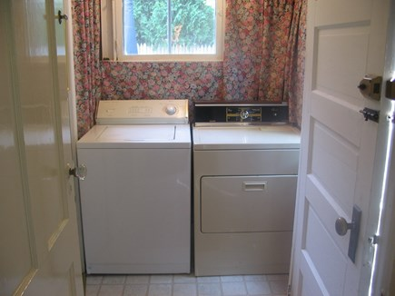 Near Hyannis Port Cape Cod vacation rental - Laundry room in back entry