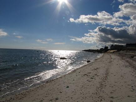 Near Hyannis Port Cape Cod vacation rental - Beach walk toward Squaw Island
