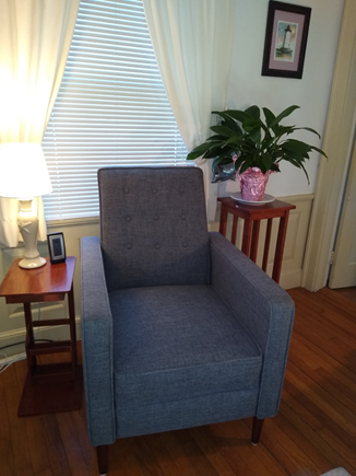 Near Hyannis Port Cape Cod vacation rental - Front recliner for comfortable reading.
