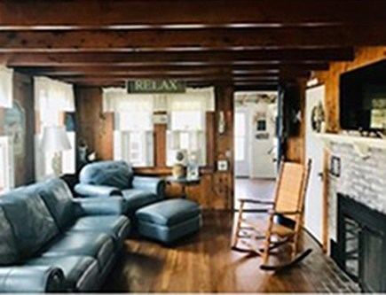 Pocasset Pocasset vacation rental - Living room with fireplace.