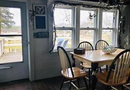 Pocasset Pocasset vacation rental - Backroom with deck and cellar access.