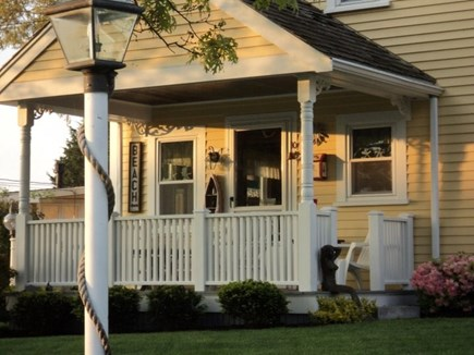 Pocasset Pocasset vacation rental - Front porch, yards from the beach.