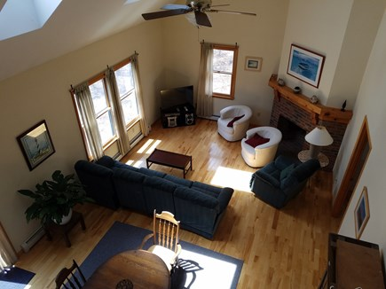 Wellfleet Cape Cod vacation rental - Living space, skylights!