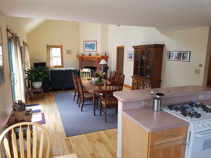 Wellfleet Cape Cod vacation rental - Living area with center island