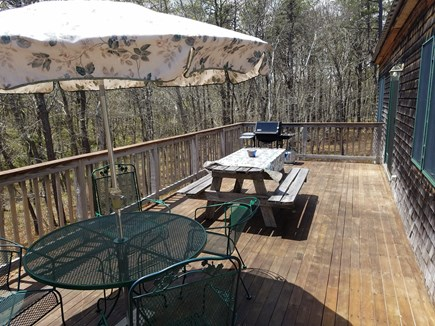 Wellfleet Cape Cod vacation rental - Sunny deck with barbecue