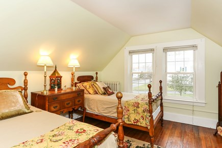 Bourne, Sagamore / Sandwich Line Cape Cod vacation rental - 2nd floor bedroom with two twin beds.