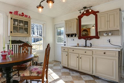 Bourne, Sagamore / Sandwich Line Cape Cod vacation rental - Kitchen! The fridge and stackable washer/dryer are just beyond!