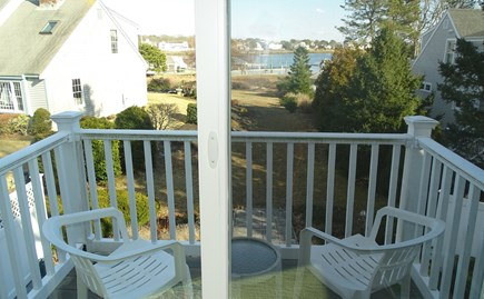 Harwich port Cape Cod vacation rental - Deck upstairs with water views