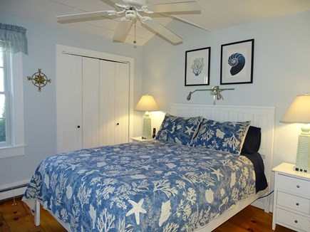 New Seabury, Mashpee Cape Cod vacation rental - Queen master on first floor with ceiling fan