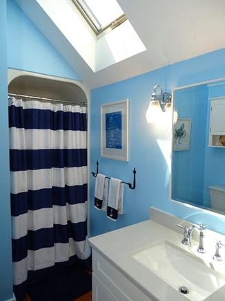 New Seabury, Mashpee Cape Cod vacation rental - Upstairs bathroom with shower, skylight
