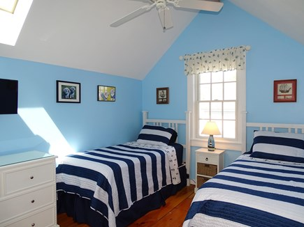 New Seabury, Mashpee Cape Cod vacation rental - Twin bedroom with TV, ceiling fan, A/C
