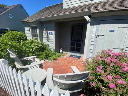 New Seabury, Mashpee Cape Cod vacation rental - Enjoy coffee and cool sea breezes on front brick patio