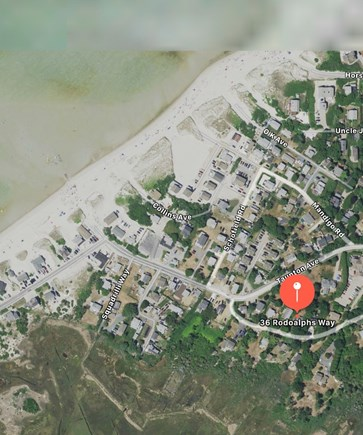 Dennis Cape Cod vacation rental - Satellite view - location, location, location!